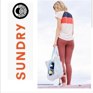 Sundry Color block Raglan tee